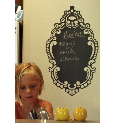 Wall Candy Arts Rococo Chalkboard Wall Decal - Wall Sticker Outlet