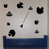 Asteroids Video Game Vinyl Wall Sticker