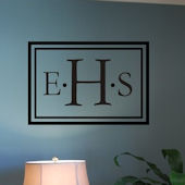 Monogram Rectangle Vinyl Wall Sticker
