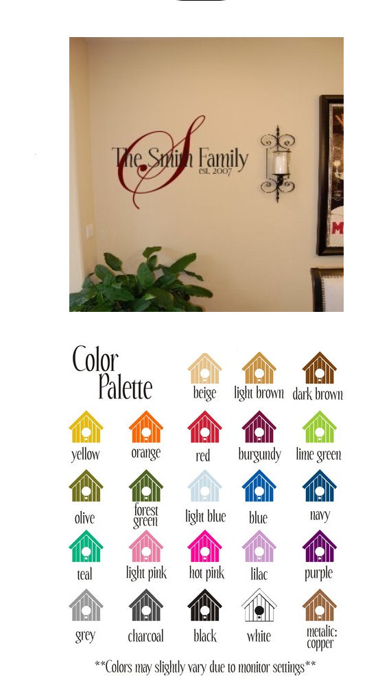 Your Family Name Vinyl Wall Sticker - Wall Sticker Outlet