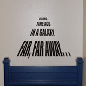 Star Wars Galaxy Far Far Away Vinyl Wall Sticker