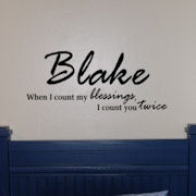 When I Count my Blessings Vinyl Wall Sticker