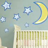 Stars and Moon Giant Wall Decals
