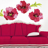 Poppies Giant Wall Decals