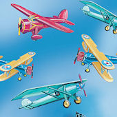 Vintage Airplanes Giant Wall Decals