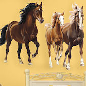 Horses Giant Peel and Stick Wall Decal