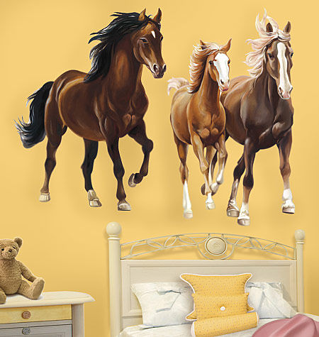 Horses Giant Peel and Stick Wall Decal - Wall Sticker Outlet