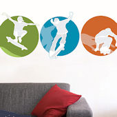 Skateboarders Giant Wall Decals