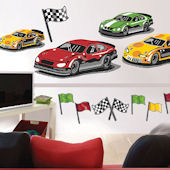 At The Track Giant Wall Decals