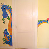 Peek-A-Saurus Door Hugger Giant Decal