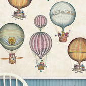 Hot Air Balloons Giant Peel and Stick Decals
