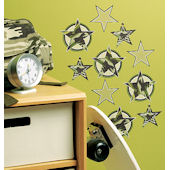 Wallies Camo Stars Cutouts