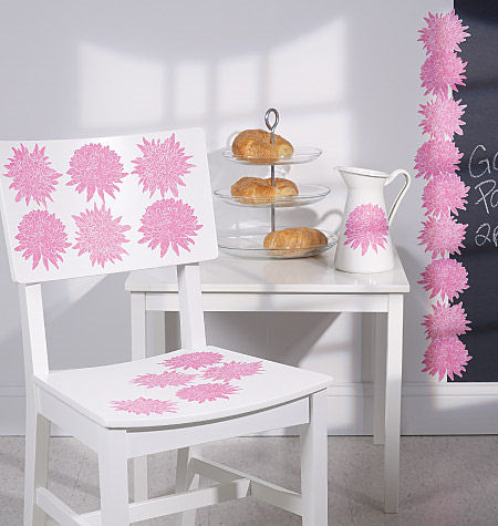 Wallies Chrysanthemum Cutouts - Wall Sticker Outlet