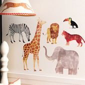 Wild Animals Peel and Stick Wall Decals