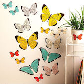 Pastel Butterflies Peel and Stick Wall Decals