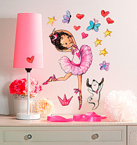 Ballerina Peel and Stick Decals - Wall Sticker Outlet