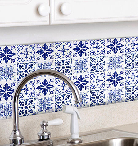 Blue Tiles Peel And Stick Decals