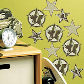 Camo Stars Peel and Stick Decals