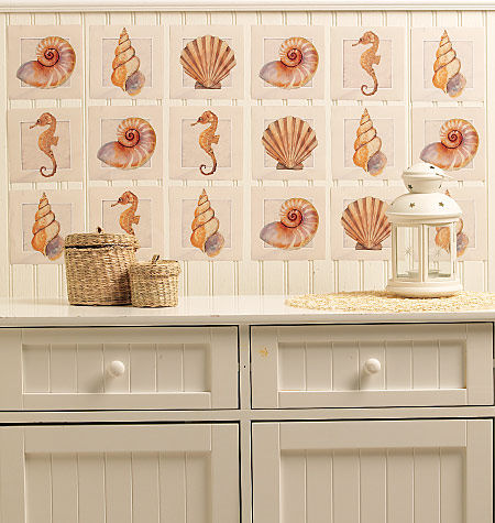 Wallies Sanibel Shore Peel and Stick Stickers - Wall Sticker Outlet
