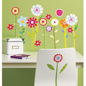 Wallies Green Garden Peel and Stick Stickers