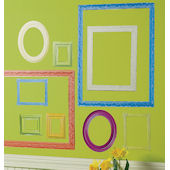 Wallies Colorful Frames Peel and Stick Stickers