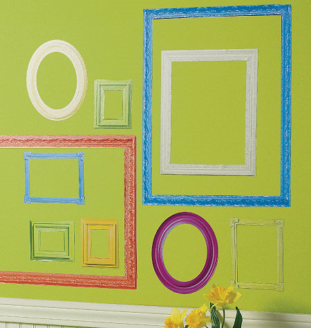 Wallies Colorful Frames Peel and Stick Stickers - Wall Sticker Outlet