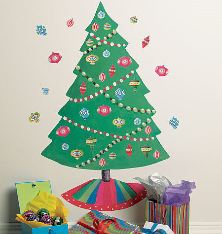 Wallies Christmas Tree Holiday Sticker