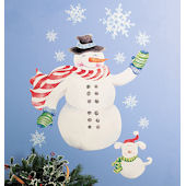 Wallies Snowman Holiday Sticker
