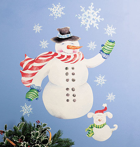 Wallies Snowman Holiday Sticker  - Wall Sticker Outlet