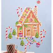 Wallies Gingerbread House Holiday Sticker