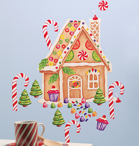 Wallies Gingerbread House Holiday Sticker - Wall Sticker Outlet