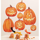 Wallies Jack O Lantern Halloween Stickers
