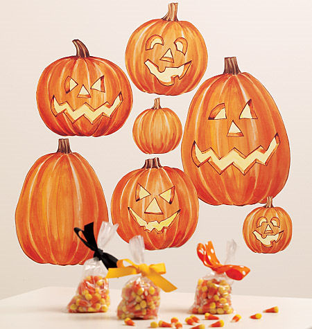 Wallies Jack O Lantern Halloween Stickers  - Wall Sticker Outlet