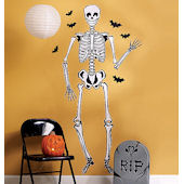 Wallies Skeleton Halloween Stickers