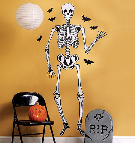 Wallies Skeleton Halloween Stickers  - Wall Sticker Outlet