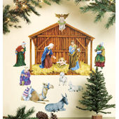Wallies Holiday Nativity Holiday Sticker