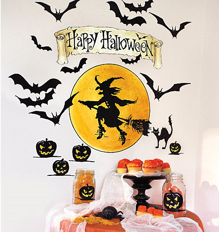 Wallies Happy Halloween Stickers - Wall Sticker Outlet