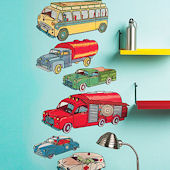 Antique Trucks Peel and Stick Wall Decals
