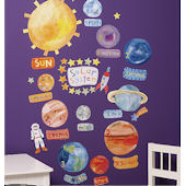 Wallies Solar System Peel and Stick Mural