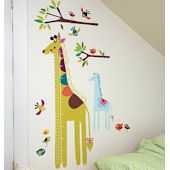 Wallies Giraffe Growth Chart Stickers