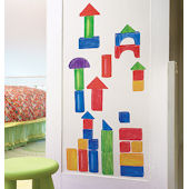 Wallies Wooden Blocks Peel and Stick Mural
