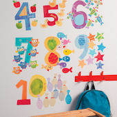 Wallies Counting Numbers Interactive Wall Decals