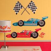 Wallies Grand Prix Racing Interactive Wall Decals