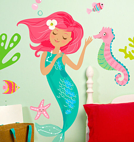 Mermaid Peel And Stick Decals