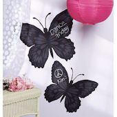 Wallies Butterfly Chalkboard Sticker