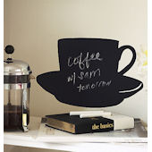 Wallies Cup and Saucer Chalkboard Sticker