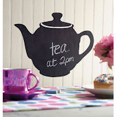 Wallies Teapot Chalkboard Sticker