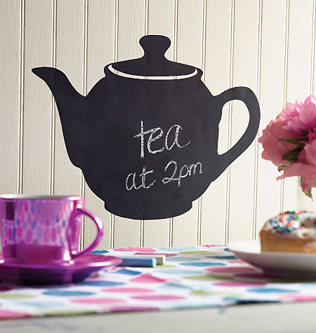 Wallies Teapot Chalkboard Sticker - Wall Sticker Outlet