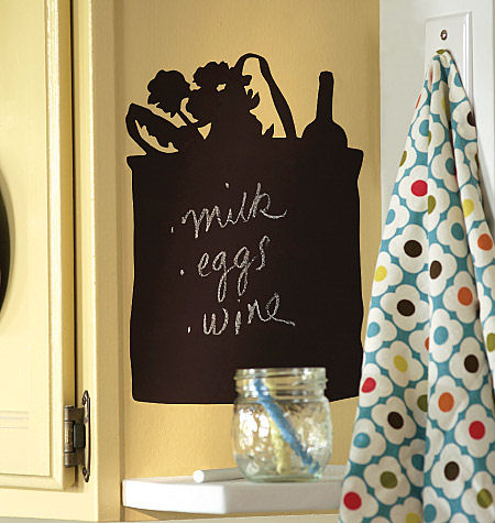 Wallies Tote Bag Chalkboard Sticker - Wall Sticker Outlet