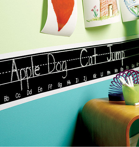Wallies Chalkboarder Alphabet Wall Sticker - Wall Sticker Outlet